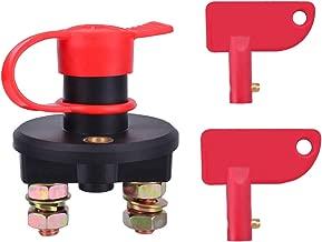 YoungRich Interruptores de Batería Interruptor de Desconexión de la Batería del Automóvil Universal Interruptor de Apagado del Poder Aislador de Emergencia para Vehículos Marinos RV del Barco
