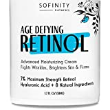 Retinol Cream for Face with Hyaluronic Acid - 3% Maximum Strength Anti Aging Moisturizer - Day or Night Cream - For Wrinkles, Fine Lines, Firming on Face & Neck - for Men & Women - by Sofinity