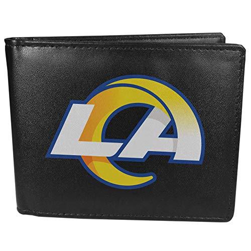 Siskiyou NFL Herren Bi-fold Geldbörse Large Logo, Herren, Los Angeles Rams Portemonnaie mit großem Logo, FBIL130, Schwarz , Einheitsgröße