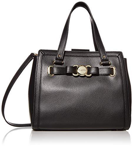 Karl Lagerfeld Paris Damen Bow Satchel Amelia Hermine, Schleife, Handtasche, schwarz/Gold, Einheitsgröße