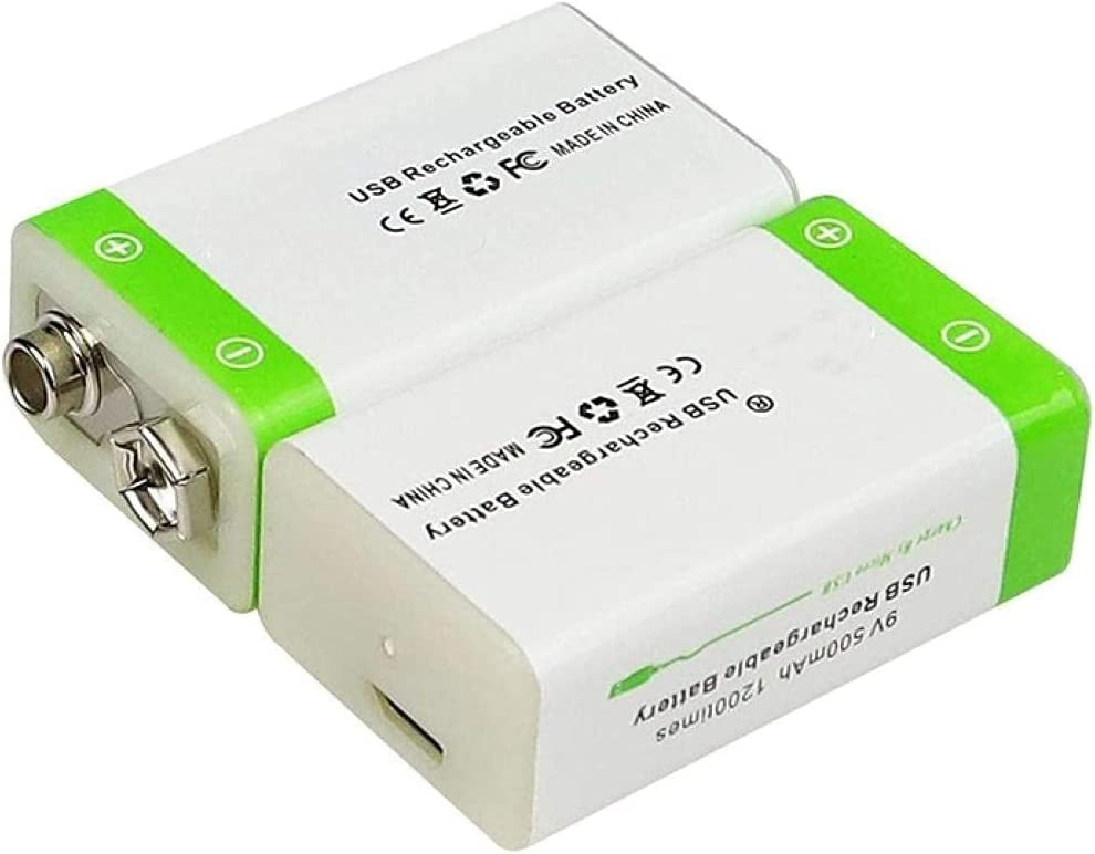 9V Spring new work 500mAh li-ion Rechargeable Battery USB for Micro Bombing free shipping Mu Batteries