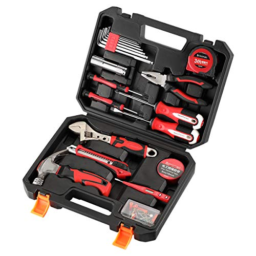 41-Piece Tool Set General Household Home Repair Hand Tools Kit with Plastic Toolbox Storage Case