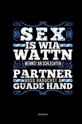 Sex Wattn Notizbuch: Kariert 120 Seiten A5 Bayern Bayrisch Witz Humor Geschenk Kartenspieler Schafkopfen Watten