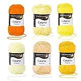Schachenmayr since 1822 Catania 9801210-SET29 - Ovillo de lana (6 unidades, algodón, 50 g), color amarillo