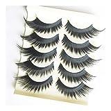 Hongtai 5 Pares/Set Suaves Mariposa Ojos Larga Crossover Grueso Pestañas Postizas Ojo De Las Pestañas De Herramientas De Maquillaje