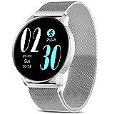 AIMIUVEI Smartwatch, Reloj Inteligente IP67 con Pulsómetro Presión Arterial 8 Modos de Deportes Monitor de Sueño, 1.3 Inch Reloj Deportivo Hombre Mujer para iOS y Android