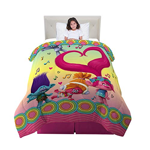 Franco Kids Bedding Comforter, Twin/Full Size 72' x 86', Trolls