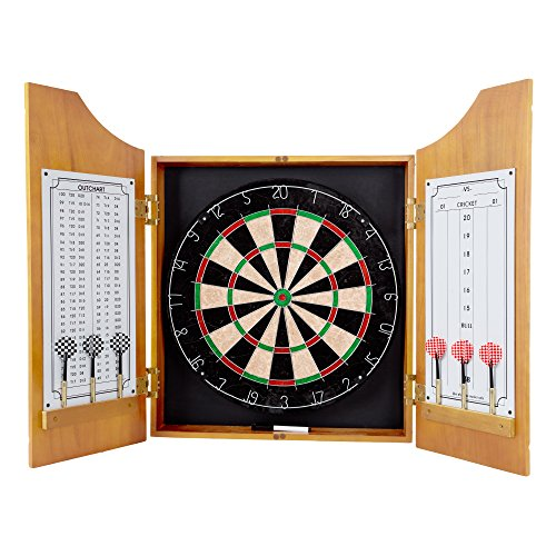 Trademark Gameroom Solid Wood Dart Cabinet Set