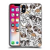 Head Case Designs San Bernardo Patrones de Raza de Perro 2 Carcasa de Gel de Silicona Compatible con Apple iPhone X/iPhone XS