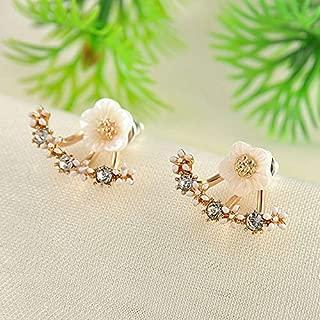 1Pair Fashion Women Crystal Rhinestone Ear Stud Daisy Flower Earrings Jewelry Accessory Accessories Design Womens Cheap Novelty Pendant Pretty Brides