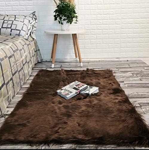 Faux Fur Rug Sheepskin Rug Fur Rug Bedroom Rugs Nursery Rug Room Decor Living Room Rug Area product image