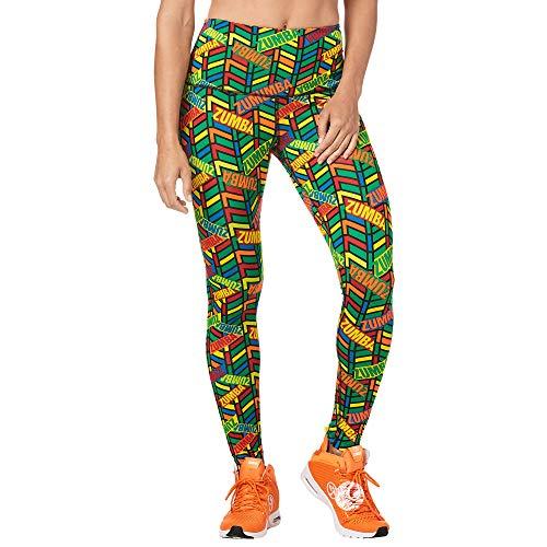Zumba Leggings de Fitness Cintura Alta Entrenamiento Baile Compresión Pantalones Mujer, Multi, S