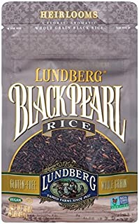 LUNDBERG FAMILY FARMS, Black Pearl Rice, Og2, Pack of 25, Size LB, (GMO Free Kosher 95%+ Organic)