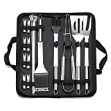Gobesty Set di utensili per barbecue, 20 pezzi Set di utensili per barbecue per barbecue Accessori Set di utensili per barbecue Spatola delle pinze della griglia della forcella per picnic in campeggio