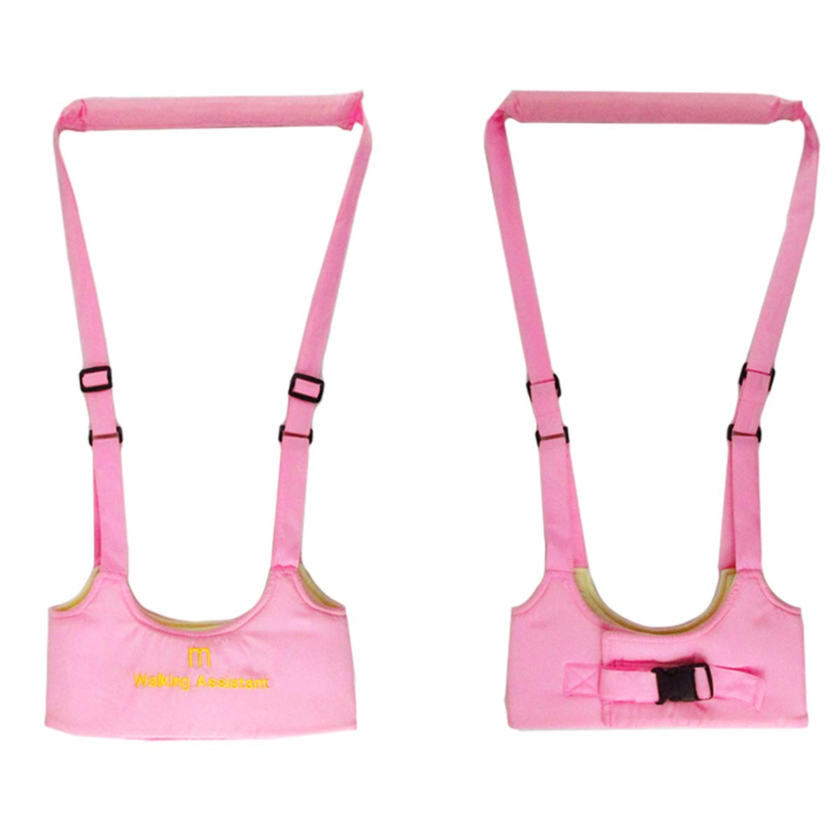 Baby Toddler Learn to Walk Walking Harness Aid Assistant Safety Rein Train Walking Protective Belt (Pink)