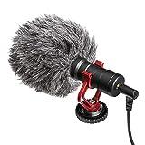 koulate Kameramikrofon, tragbares Videomikrofon Kondensatormikrofon mit stoßfester Halterung Winddicht Universal für Kamerahandy Computer