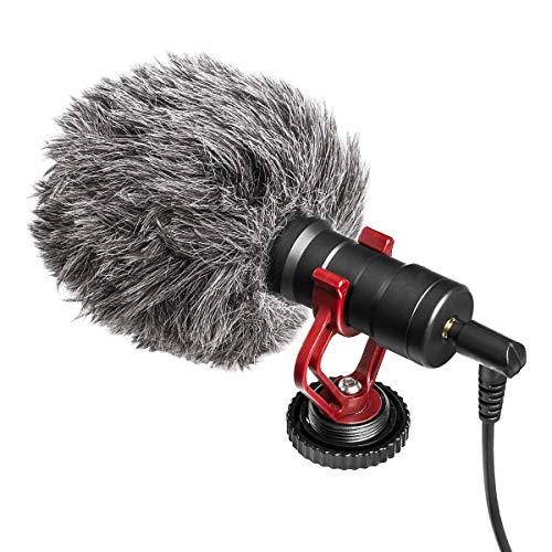 Koulate Camera Microfoon, draagbare Video Microfoon Condenser Microfoon met Schokbestendige Mount Windproof Universeel voor Camera Telefoon Computer