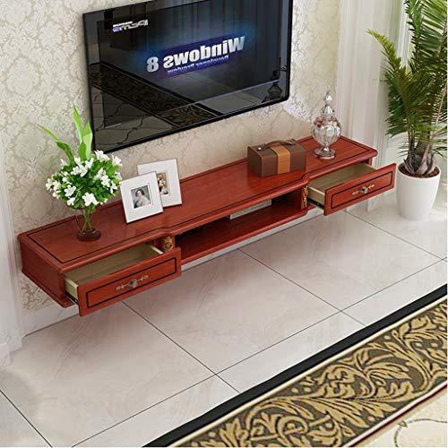 Drijvende plank muur gemonteerde TV kast TV plank met lade muur plank kabel doos Sky Box Set Top Box Router plank foto vaas Display plank, 120cm, BRON