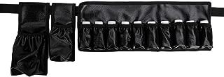 Adjustable Massage Oil/Lotion Holster Carrier Oil Essential Oil Bottle Belt Massage Belt(Holds 1pc 8oz,1pc 115ml, 10 vials) … (Black(Waterproof))