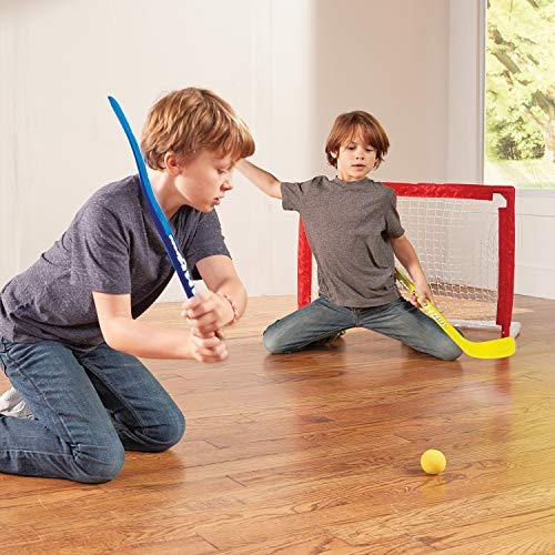 An indoor hockey set is one of the best indoor sports toys for kids