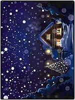 カーペット 防音 やわらかい ラグ 100*200 リビングルーム用クリスマスラグバスルームラグとマットセット耐久性のある薄型お手入れが簡単な冬の夜の家 オールシーズンタイプ 抗菌防臭滑り止め リビングラグ