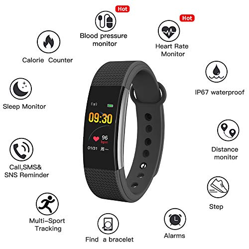 Bingo F1SQSmart Watch for Android iOS Phone, IP67 Waterproof Fitness Tracker Watch...