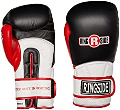 Ringside Pro Style IMF Tech Boxing Training Sparring Gloves, Black, 14-Ounce