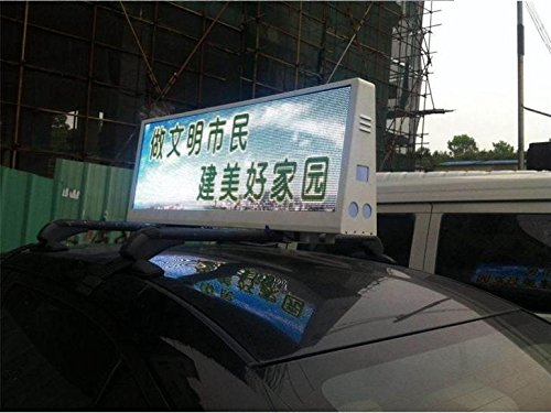 USB control can be 3G/WIFI Control 960320mm Two Sides IP65 P5 Taxi Roof Video LED Display Taxi Top LED Sign Car Top LED Screen Cab Top LED Sinage