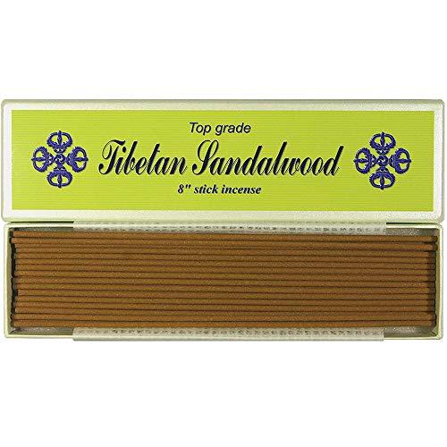 20,3cm top grade Tibetan Sandalwood stick incense–100% naturale–j007tr-r1