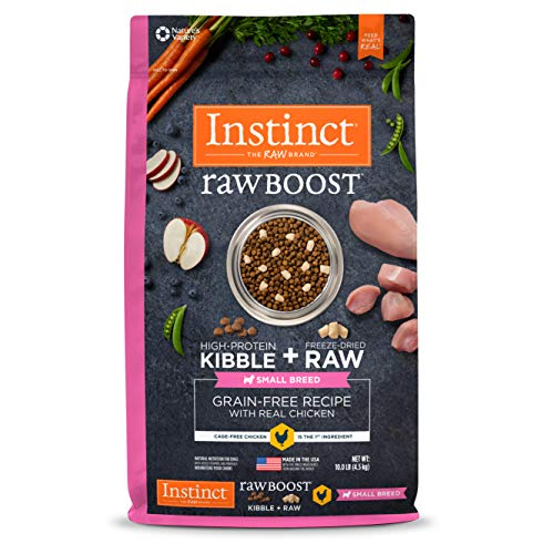 Instinct Raw Boost Small Breed Grain Free Recipe with Real Chicken Natural Dry Dog Food by Nature's Variety, 10 lb. Bag