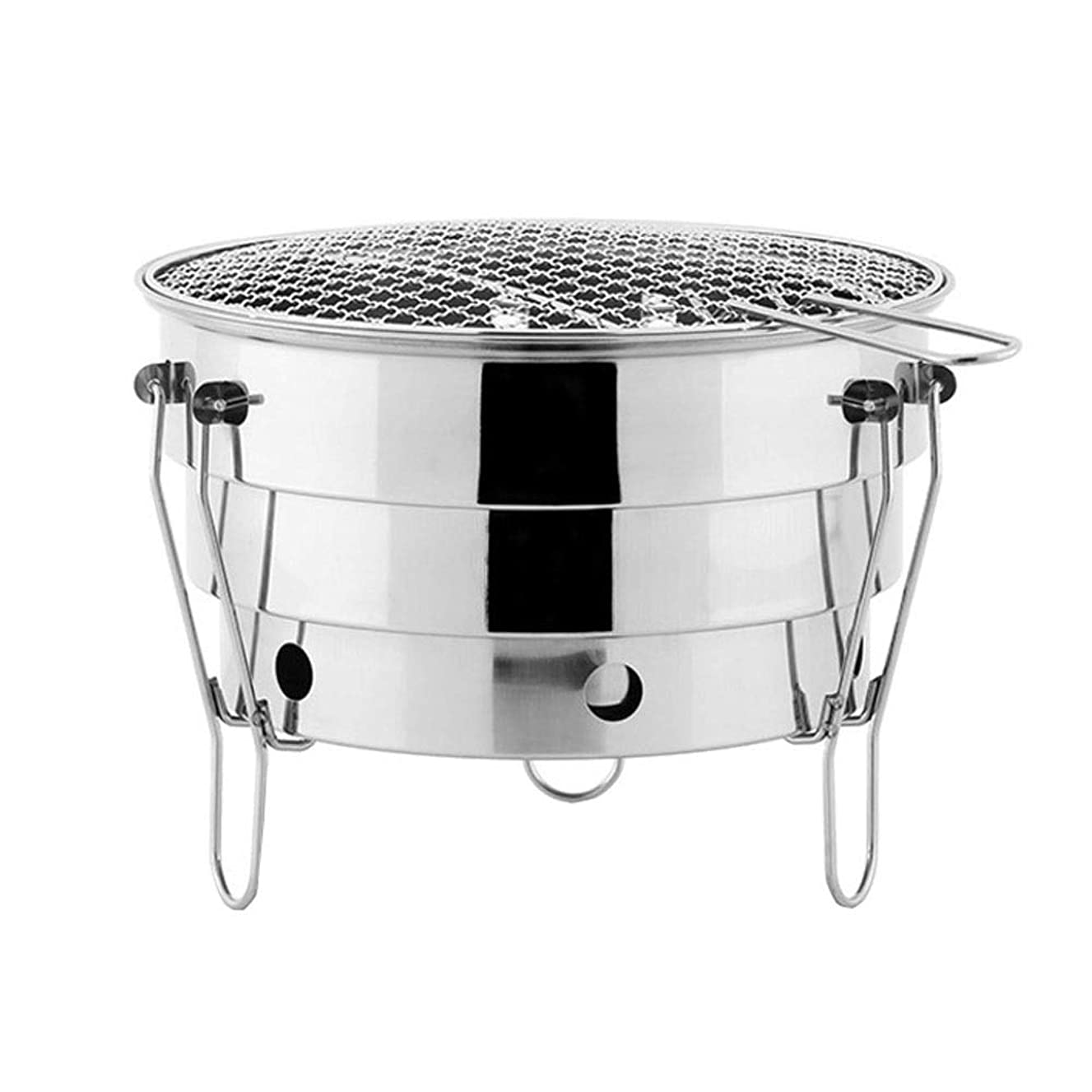 ZK Small Barbecue Stove, Stainless Steel Outdoor Portable BBQ Barbecue Grill for Camping Picnic, Folding Charcoal Grill, Camping Equipment, Camping Kitchen