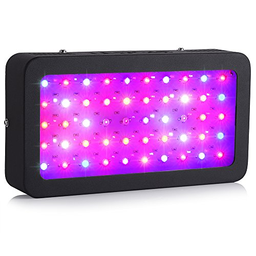 LEDGLE LED Plant Grow Light 300W(50X6W) Full Spectrum with UV IR Plant Grow Light for Outdoor Indoor Plant Veg and Flower Growing Greenhouse Hydroponic