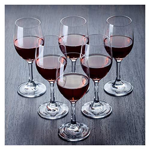 Hs&sure Campes de Vino Tinto de Campamento de Fiesta Personalizado irrompible, Moderno Creativo Transparente Cristal de Cristal hogar pequeño Vino de Vino Encanto (Size : 210ML-6 Pieces)