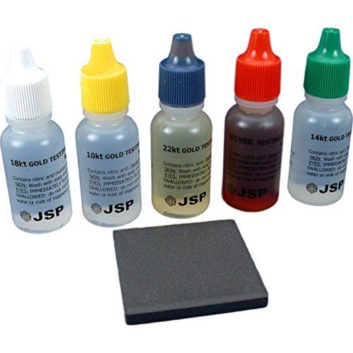 10K, 14K, 18K, 22K Gold and Silver Test Acid Economy Test Stone and Basic Instructions Kit Tools
