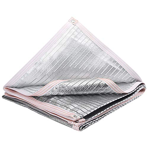 Schattennetz Verschlüsselte verdickten Sonnenschirm net, Aluminiumfolie Sonnenschirm net, Anti-Aging-Balkon Wärmedämmung net, tragbare Sonnenschutzgewebe Gartensonnenschirm net schattennetz für gewäch