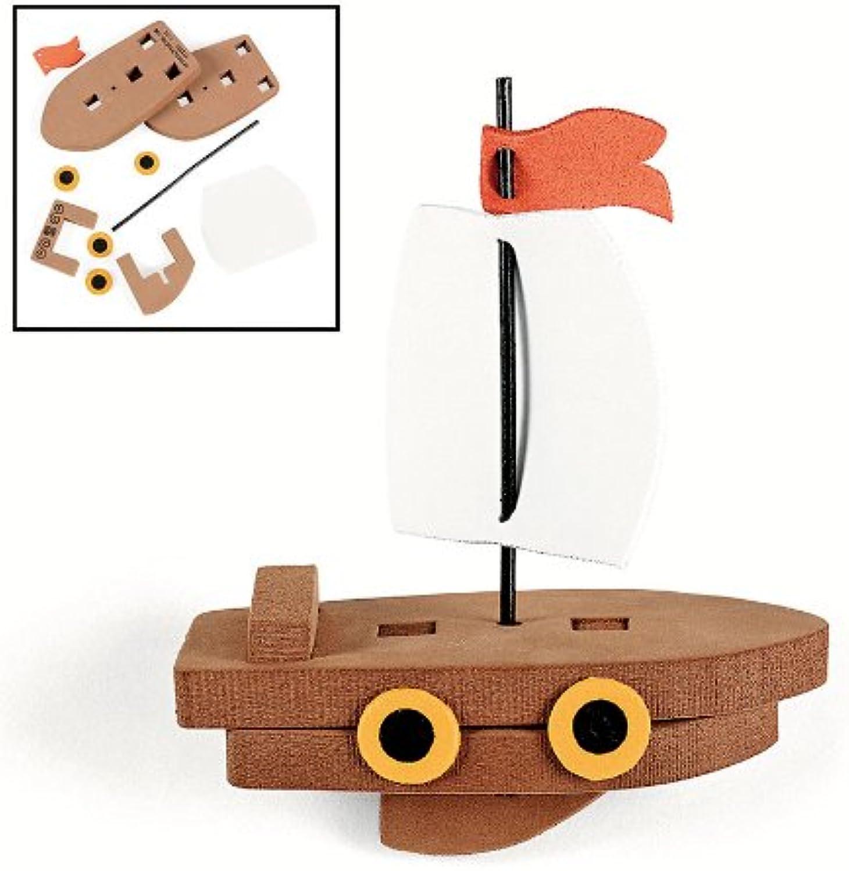 Fun Express 3D Floating Ship Craft Kit (1 Dozen)