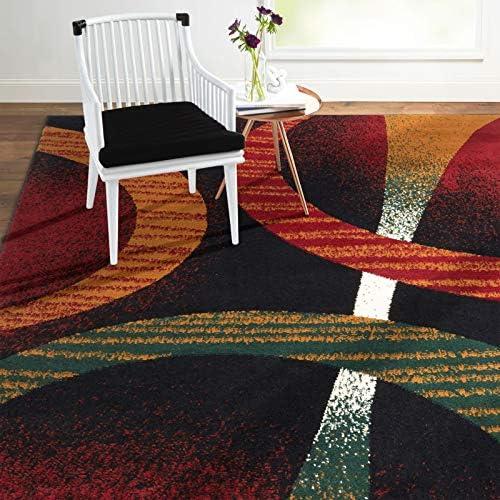 Home Dynamix Premium Indus Modern Area Rug Black Multi 5 2 x7 4 Rectangle product image
