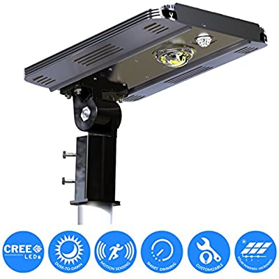 eLEDing Solar Power SMART CREE LED Street Light for Commercial Residential Parking Bike Paths Walkways Courtyard