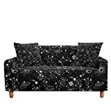 WXQY Funda de sofá elástica en Forma de L, impresión de constelación Adecuada, Antideslizante, Todo Incluido, Funda de sofá, sillón A1 4 plazas