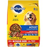 PEDIGREE Complete Nutrition Adult Dry Dog Food Grilled Steak & Vegetable Flavor Dog Kibble, 33 lb. Bag
