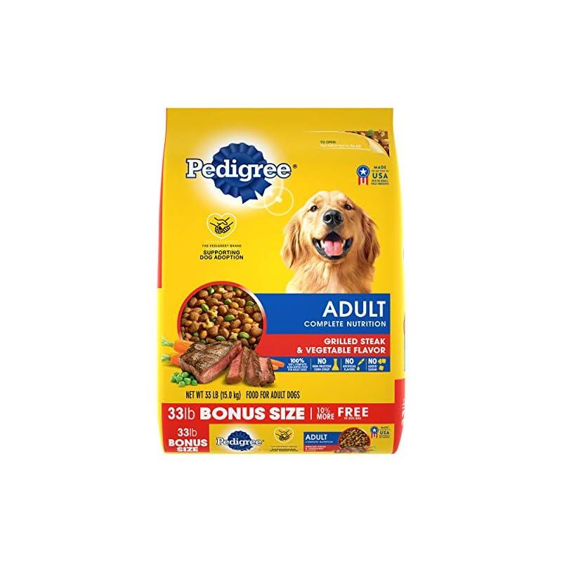 dog supplies online pedigree complete nutrition adult dry dog food grilled steak & vegetable flavor dog kibble, 33 lb. bag