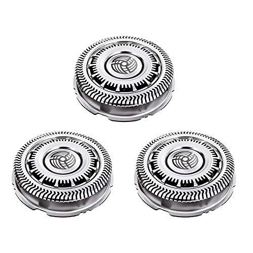 Poweka SH90 Têtes de rasoir électrique Remplacement Compatible avec les séries Phili-ps Norelco SH90 / 62 Série 9000 8000 S8950 S9000 S9311 S9321 S9511 S9531 S9721 Lames de Rechange