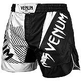 VENUM NoGi 2.0 Pantalones Cortos de Entrenamiento, Hombre, Negro/Blanco, L