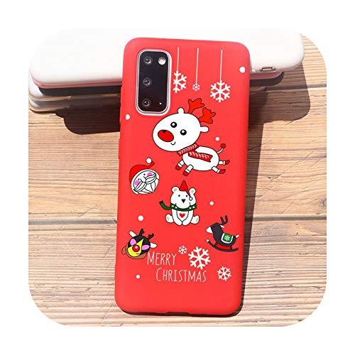 Carcasa para teléfono Samsung S20 Plus S10 S9 S8 Plus A30 A50 A70 S10E A6 A7 2018 S6 S7 Bord Note 10 Funda TPU A1577 Red-For Samsung S7