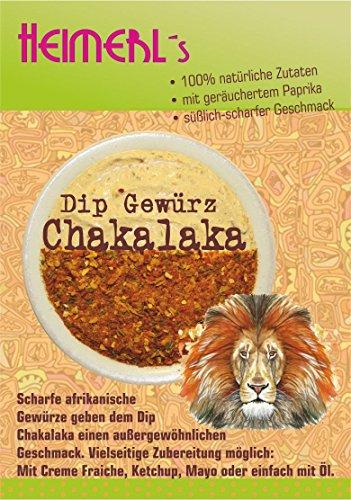 HEIMERLs Dip Chakalaka 80g - Gewürz zum Zubereiten von Dip, Soßen und vegetarischen Brotaufstrich | ohne Zusatz von Glutamat | auch zum Kochen und Grillmarinaden geeignet | mit geräuchertem Paprika