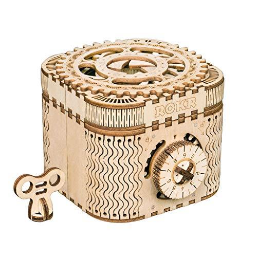 Puzzles Spielzeug Dreidimensionales Assembled Mechanische Modell aus Holz Spielzeug Kreative Ewiger Kalender/Passwort Box/Pendeluhr Brainteaser (Color : Password Box)