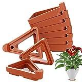æ— 24 patas para macetas, triángulo, soporte para macetas invisibles, elevador de maceta de plástico, soporte para plantas en maceta en interiores y exteriores