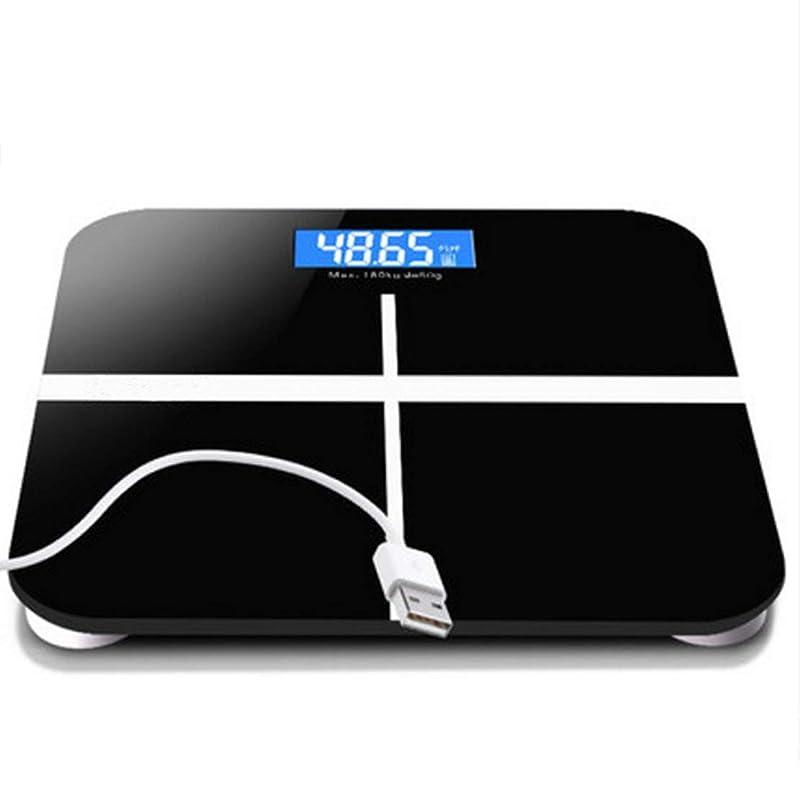 リフレッシュ保存する回想デジタル体重計浴室スケール高精度測定180kg最大USB充電