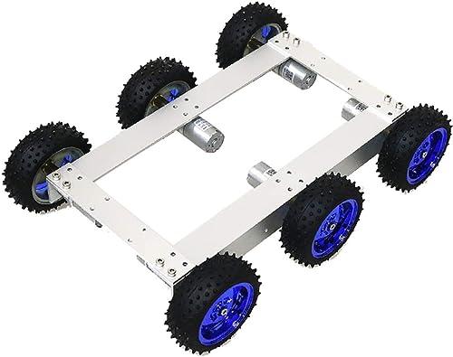 F Fityle 12V 330RPM Auto Chassis Roboter Plattform Auto fürgestell mit Zubeh für Arduino, ca. 340 x 240 x 85 mm - Blaues Rad