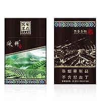 雲南中国のハーブ茶タバコ、牡丹茶 緑茶 ジャスミン茶 ダークティー紅茶 ローズ茶100%の無煙茶タバコ、男性と女性の健康タバコ、禁煙サポート (ダークティー,10パック)